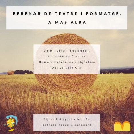 Berenar de teatre i formatge a Mas Alba